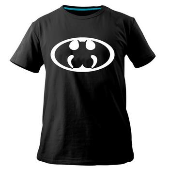 Uniek shirt met batman logo en borsten