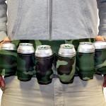 Gordel waarin je blikjes bier kunt zetten