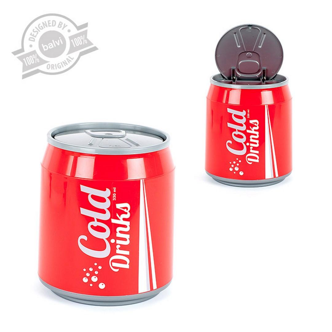 Prullenmand in de vorm van cola