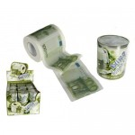 Toiletpapier met euro biljetten
