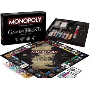 Monopolie spel in de stijl van Game of Thrones