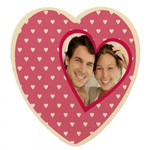 Gepersonaliseerd chocolade hart