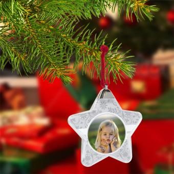 Kerstster met foto en tekst