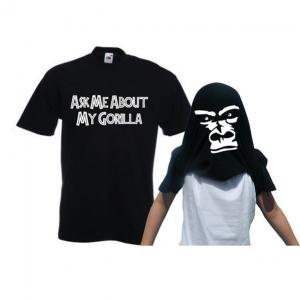 Shirt met gorilla kop
