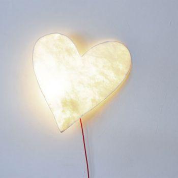 Lamp in de vorm van een hart
