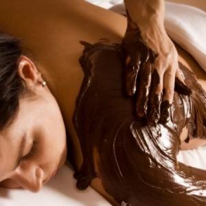 Massage met chocolade