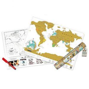 Kras Wereldkaart Origineel Cadeau