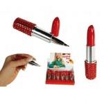 Pen in de vorm van lippenstift