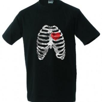 Unisex shirt met ribben en hart
