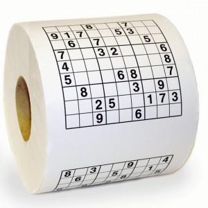 Sudoku puzzel toiletpapier