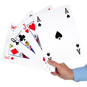 Vergrote speelkaarten