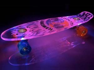 Verlichte skateboard