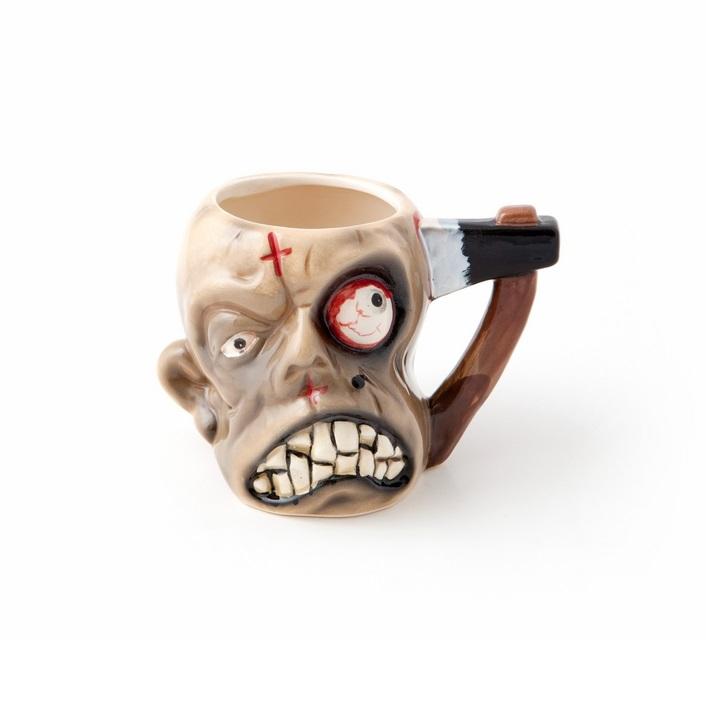Mok in de vorm van een zombie kop