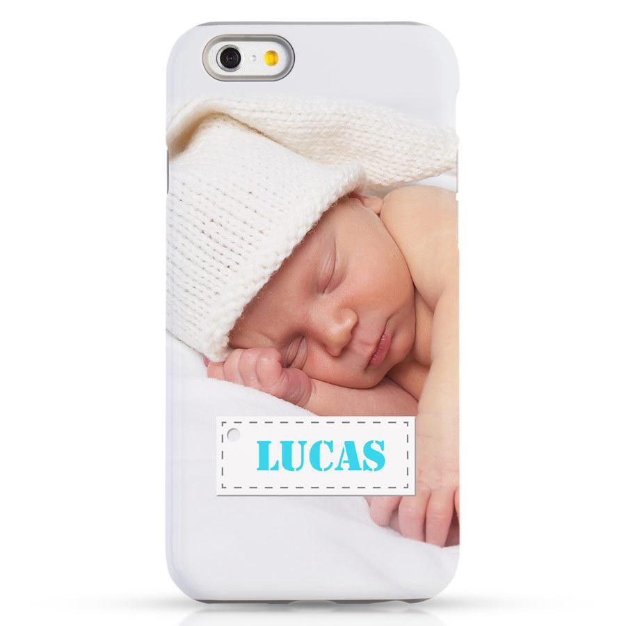 iPhone case met eigen foto en tekst