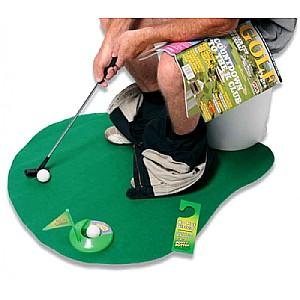 Speel golf terwijl je op toilet zit